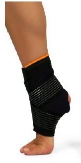 Cavigliera a zip con chiusura velcro